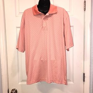 PGA Tour Peach Colored Polo